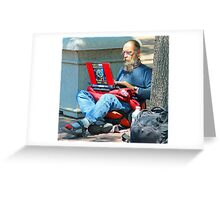 I may be homeless but i still have connections !! Greeting Card