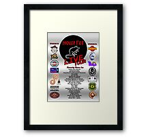 NEW Mouse Rat (Live Tour Edition) Plus Pawnee Sponsors & Former Band Names! Framed Print