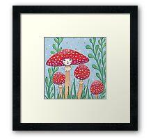 Uncommon Variety - Red Mushroom Framed Print