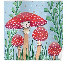Uncommon Variety - Red Mushroom Poster