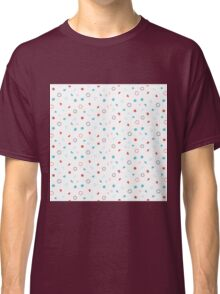 Blue, Red and White Pattern Classic T-Shirt