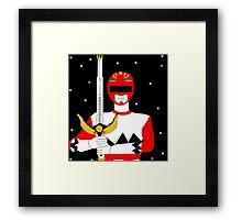 Power Rangers Lost Galaxy(Red Ranger) Framed Print