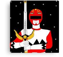 Power Rangers Lost Galaxy(Red Ranger) Canvas Print