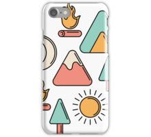 Camping Icons iPhone Case/Skin