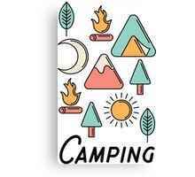 Camping Icons Canvas Print
