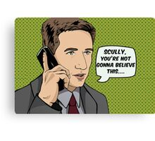 Pop Mulder Canvas Print