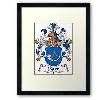 Jager Coat of Arms (German) Framed Print