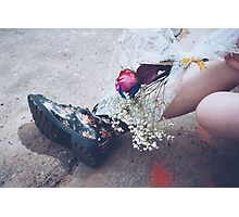 Petals and Boots Photographic Print