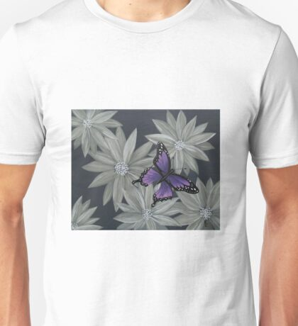 Butterfly and flowers Unisex T-Shirt