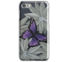 Butterfly and flowers iPhone Case/Skin