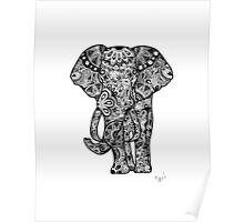 Tribal Elephant Poster