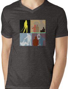 Quentin Tarantino Movie Collage Mens V-Neck T-Shirt