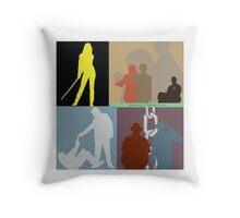 Quentin Tarantino Movie Collage Throw Pillow