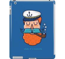 Whale of a Mustache iPad Case/Skin