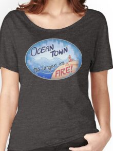 Welcome to Ocean Town! Women's Relaxed Fit T-Shirt