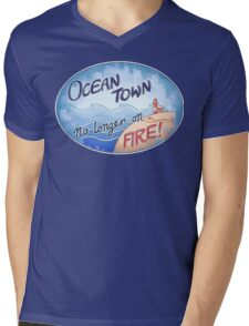 Welcome to Ocean Town! Mens V-Neck T-Shirt