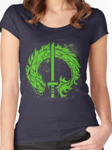 Genji Green Dragon Tag Women's Fitted Scoop T-Shirt