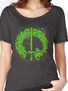 Genji Green Dragon Tag Women's Relaxed Fit T-Shirt