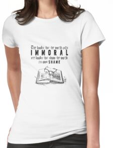 Dorian Gray - Immoral Books Quote Womens Fitted T-Shirt