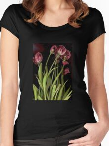 Poster Tulips Women's Fitted Scoop T-Shirt