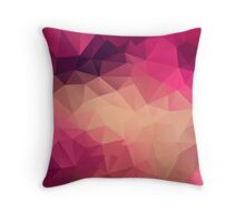 Polygon picture . Sunset. Throw Pillow
