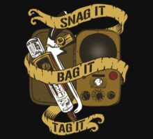 Snag It, Bag It, and Tag It! by karbondream