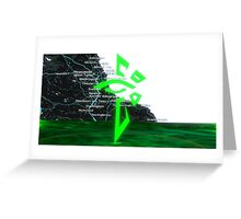 Ingress Enlightened North East England Greeting Card