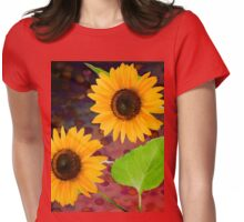 decorative sunflowers Womens Fitted T-Shirt