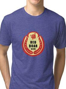Black Knight's Red Boar Beer Tri-blend T-Shirt