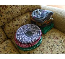 Preparations for Winter - Colourful Hats Photographic Print
