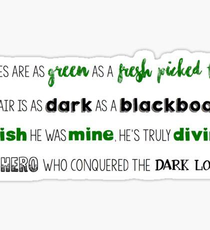Ginny's Poem Sticker