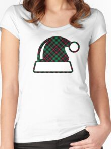 Holly Plaid Women's Fitted Scoop T-Shirt