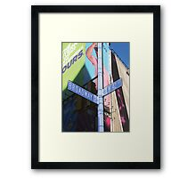 42nd and broadway Framed Print