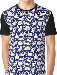 Geometric playful ferrets pattern.  Graphic T-Shirt