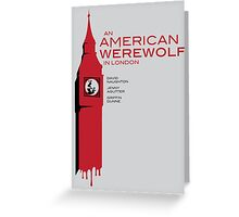 """An American Werewolf In London"" Greeting Card"