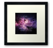 Galaxy-Some Infinities are bigger than other infinities-The fault in our stars Framed Print