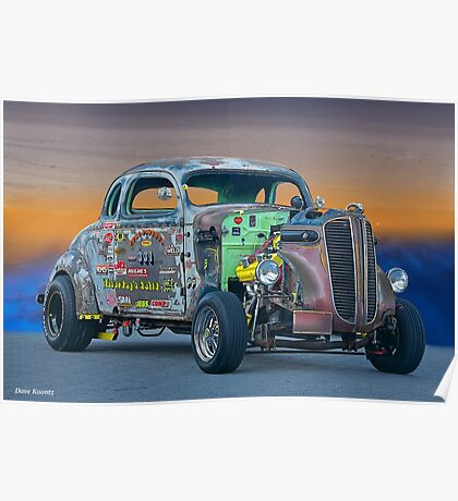 1938 Dodge Coupe 'Just Pass'n Gas' Poster