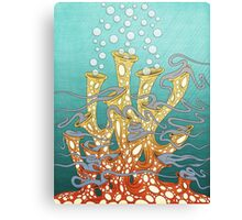 Dancing Coral Party Canvas Print