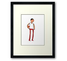 Adventure Time basketball player Framed Print