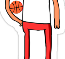 Adventure Time basketball player Sticker