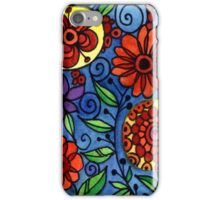 Abstract Colorful Flowers iPhone Case/Skin
