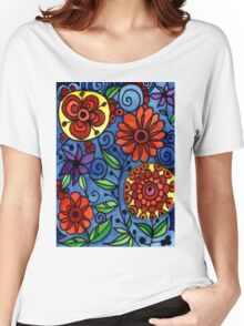 Abstract Colorful Flowers Women's Relaxed Fit T-Shirt