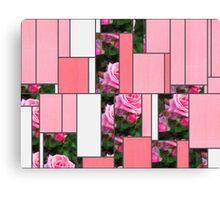 Pink Roses in Anzures 1 Art Rectangles 9 Canvas Print
