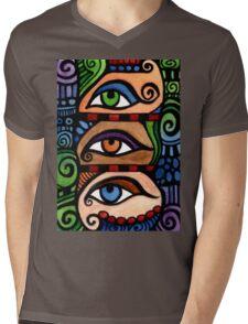 3 Colored Eyes Mens V-Neck T-Shirt