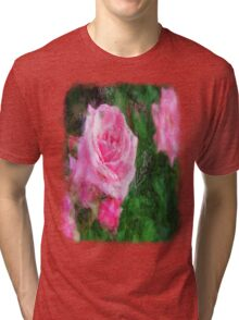 Pink Roses in Anzures 1 Sketchy Tri-blend T-Shirt
