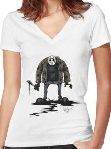 Jason Vorhees Women's Fitted V-Neck T-Shirt