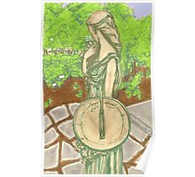 woman with sundial Poster