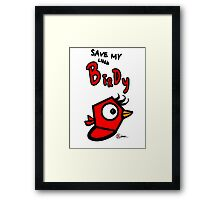 Save My Little Birdy Red Bird Game Title (EG-000004) Framed Print