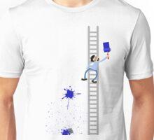 Painter Blue Splatter  Unisex T-Shirt