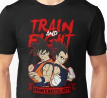 TRAIN AND FIGHT - goku & vegeta Unisex T-Shirt